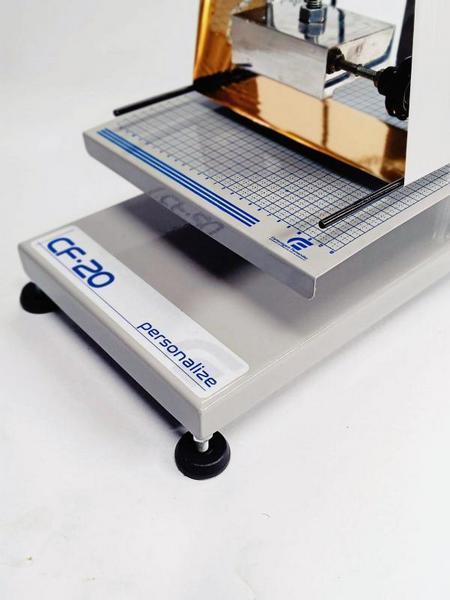 Maquina hot stamping gravação em couro
